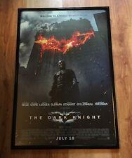 BATMAN THE DARK KNIGHT Christian Bale Original 27x40 Double Sided Movie Poster