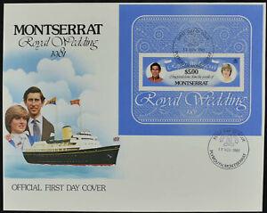 Montserrat 1981 Royal Wedding M/S FDC First Day Cover #V9092
