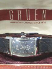 Vintage art deco Gruen Curvex cal. 370 X-Long  weissvergoldet - incl. Box