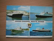 CROSS CHANNEL BOATS, DOVER, POSTCARD