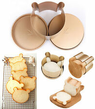 Stainless Steel Bear Loaf Bread Toast Cake Muffin Mold Mould Maker Pan Ring DIY