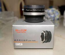 Zhongyi  Turbo Adapter Nikon F Mount Lens to Fujifilm X Mount