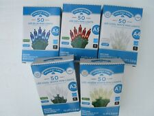 HOLIDAY TIME 50 LED MINI LIGHTS BLUE,RED,COOL WHITE ,WARM WHITE - NEW