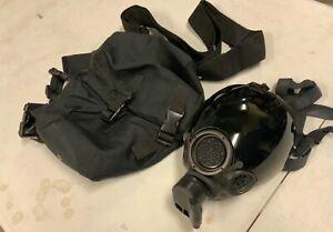 MSA Millennium CBRN Riot Control Mask Respirator w/ Bag & Tinted Lens Cover Med