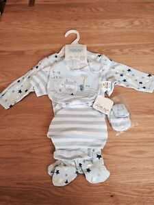 Just Too Cute Blue Elephant 5-Piece Baby Gift Set