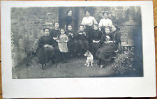 1910 Realphoto Postcard: Women with Dog- Nantes, France