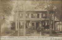 Beautiful Home - Winchendon MA Cancel c1910 Real Photo Postcard