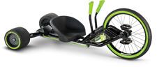 Huffy Green Machine RT 20 Inch 3-Wheel Tricycle Kids Trike FUN 180 Spins New
