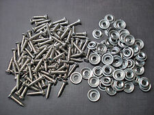 "100 pcs #8 x 3/4"" stainless kick panel door interior trim screws & washers GM"