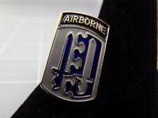 "Lapel Pin AIRBORNE Blue & Grey Enamel 1"""