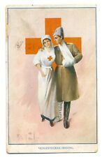 "Russian WWI Propaganda Red Cross ""Human Love"" PC H. Knopping Riga 1915"