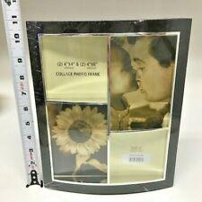 Uniek 4 Opening Urban Sleek Collage Black Tone 8X10 Photo Picture Frame NEW