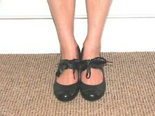 Clarks Black Leather Charleston Style Shoes Mid Heel UK 4.5 NEW