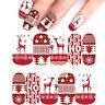 5X Sticker Christmas nail art decorazioni unghie natale trasferimento acqua