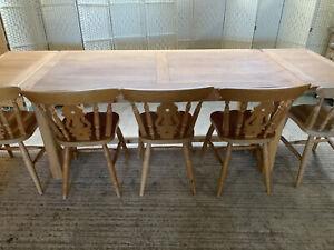 Huge Extending Solid Oak Farmhouse Dining Table 6-9ft 180-270cm Rustic Seats 10