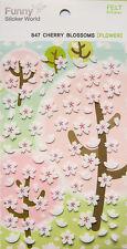 Cute Cherry Blossoms Sticker. wedding scrapbook Party Favors Crafts