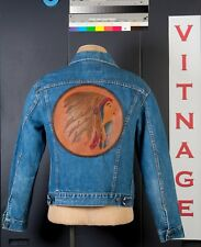 1960 Levi's Big E Jacket with Native American Tooled Leather Patch from the 40's
