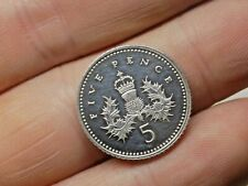 More details for 1996 solid sterling silver proof 5p five pence coin.  free uk p&p