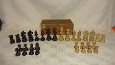 VINTAGE IN SCATOLA bosso Staunton stile set di scacchi - 5.7cm King