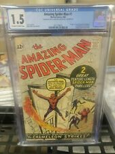 Amazing Spider-Man #1 CGC 1.5 MEGA GRAIL 1963 key issue Don't Miss This