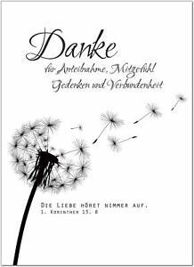 Danksagungskarten Trauer Trauerkarten Motiv Chrysanthemen Danksagung 54
