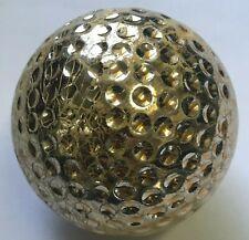 1 Gold Metallic Chrome Undersized Used Golf Ball (A-2-4)