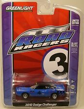 GREENLIGHT COLLECTIBLES DIECAST METAL 1:64 SCALE BLUE 2010 DODGE CHALLENGER
