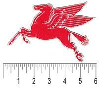 "Mobil Pegasus patch badge 6"" gasoline motor oil service station hot rod Right"