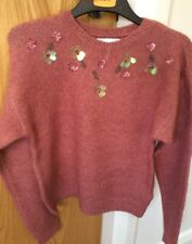 BNWT /& M 10 Marks /& Spencer Blush Pink  Ladies Jumper Top Size S 12