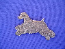 Cocker Spaniel Pin #33A LEAPING Pewter Sporting Dog Jewelry by Cindy A. Conter