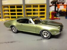 1/64 1969 Olds 442 W30 in Green/Blk Int with a 400 V8 Automatic Rally I Wheels
