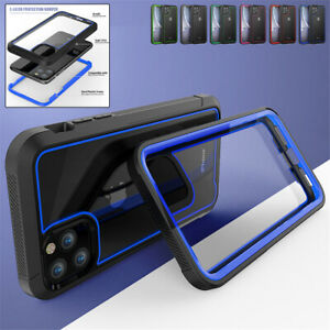 For iPhone 13 Pro Max 12 11 XR XS 8 7+ Plus Clear Case Shockproof Defender Cover