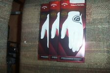 3 Brand New Callaway Dawn Patrol Leather mens Lh Large Gloves