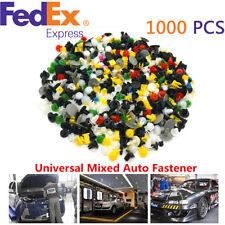 1000Pcs Car Door Panel Trim Fenders Bumper Mixed Rivet Retainer Push Pin Clips