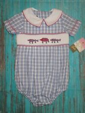 NWT Banana Split Smocked Fishing Lures Bubble/Romper Size 12 Months