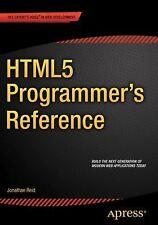 HTML5 Programmer's Reference (Paperback or Softback)