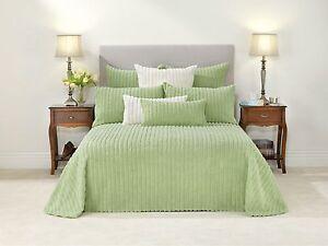 Bianca Chelsea Celadon Soft Cotton chenille Light Green Bedspread