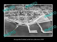 OLD LARGE HISTORIC PHOTO OF INVERGORDON SCOTLAND, AERIAL VIEW OF TOWN c1930 2