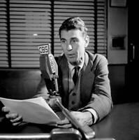 OLD CBS RADIO TV PHOTO Don Hollenback Cbs Radio News Commentator 1948 1