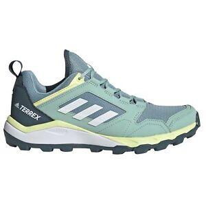 adidas Terrex Agravic Womens Trail Running Trainer Shoe Grey/White/Yellow