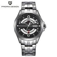 PAGANI DESIGN Business Men Watches Solid Stainless Steel Band Quartz Wristwatch