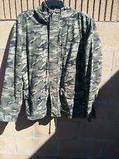 Cape Juby Camouflage Utility Parka Jacket Men XL Military Hooded Aeropostale