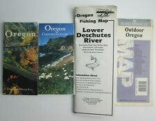 1986 Frank Amato Oregon Fishing Map Lower Deschutes River + Camping Guide + 2