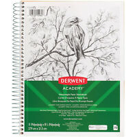 Derwent Academy Heavyweight Paper Sketchbook, Wirebound, 70 Sheets