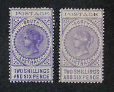 CKStamps: Australia Stamps Collection South Australia Scott#128 128a Mint H OG