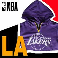 KIDS BOYS YOUTH LOS ANGELES LAKERS HOODIE LA NBA PURPLE YELLEOW VHY8869F M XL