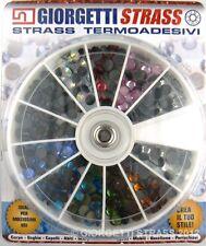 STRASS SS20 5mm 288pz Ruota 11 Colori adesivi cristalli brillantini Borchie