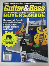 GUITAR & BASS BUIYER'S GUIDE MAGAZINE Hundreds of Electric Acoustic guitar No cd