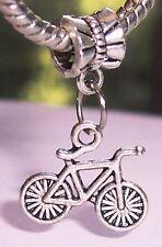 Bicycle Bike Outdoor Sports Riding Boy Dangle Charm for European Bead Bracelets
