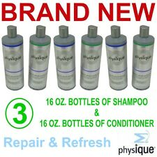 Physique Repairing Shampoo & Conditioner,6 Each 16 Ounce Bottles,New